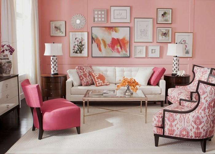 Decoration-couleur-corail-déco-corail-salon-rose-interieur-idée-déco-salon-moderne-décoration-salle-à-manger
