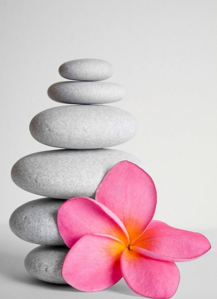 Galets-décoratifs-idées-pour-la-maison-avec-fleurs