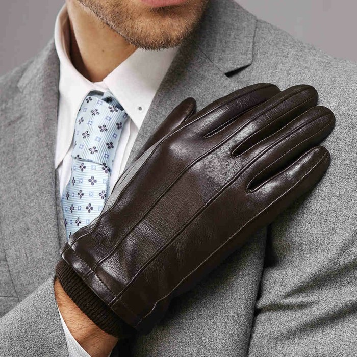 Gants-en-cuir-femme-homme-luxe-conduite-moto-mitaines-brun-noirs-mitaine-cuir-homme