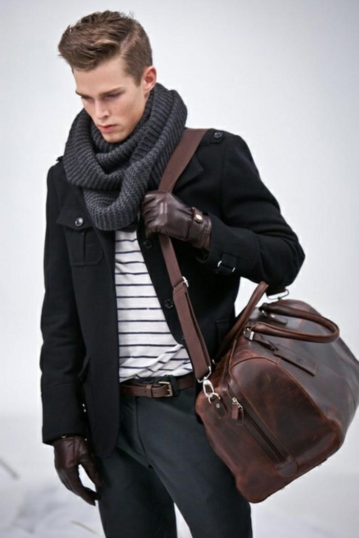Gants-en-cuir-homme-bruns-luxe-masculins-gants-pecari