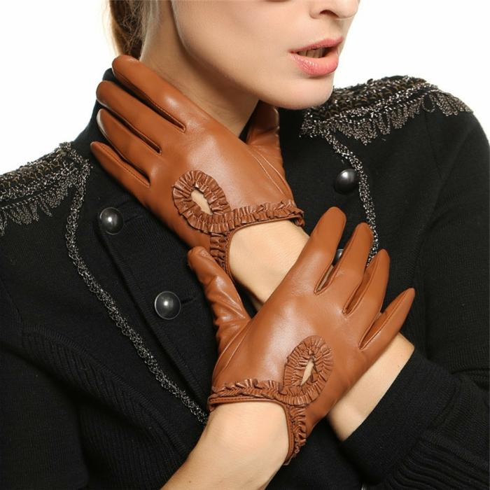les gants en cuir accessoire et n cessit pour votre style. Black Bedroom Furniture Sets. Home Design Ideas
