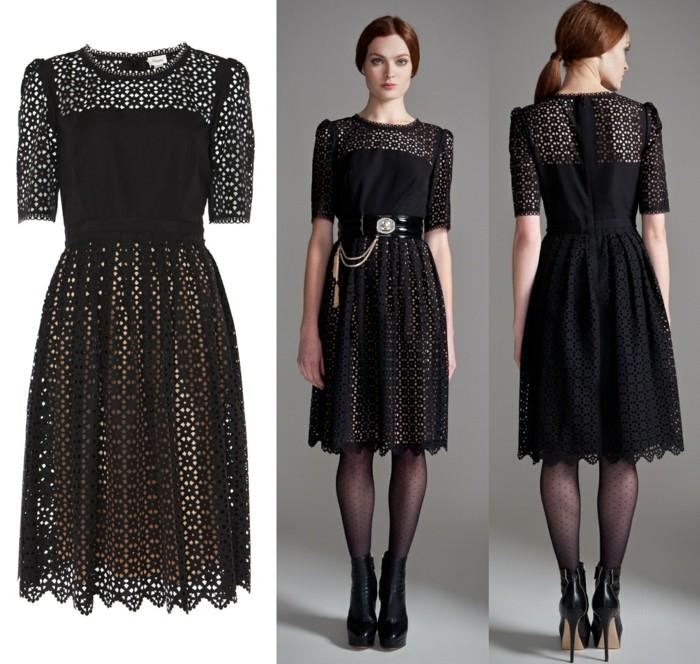 Les robes noires chics belle tenue de jour élégante