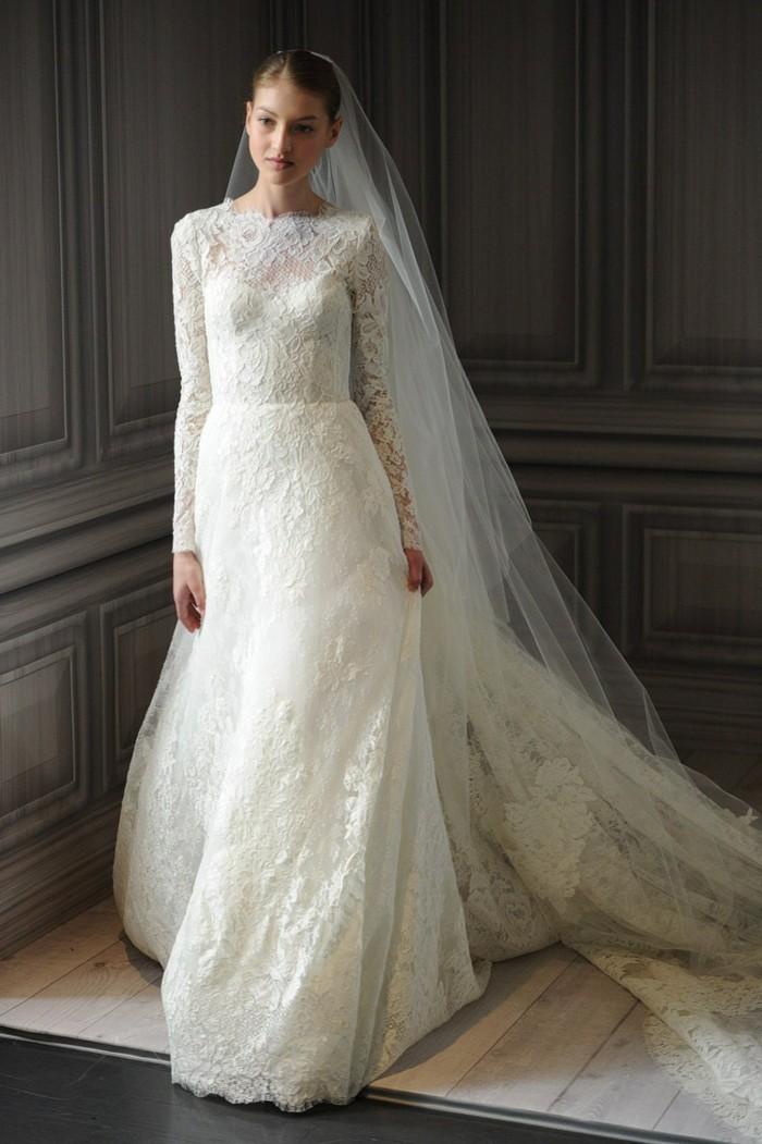 Les-robes-de-mariage-robe-mariée-dentelle-chic-idée-longue