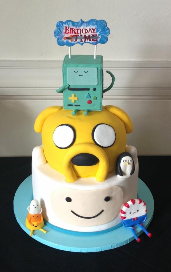 Magnifique-image-gâteau-d-anniversaire-image-gâteau-geek