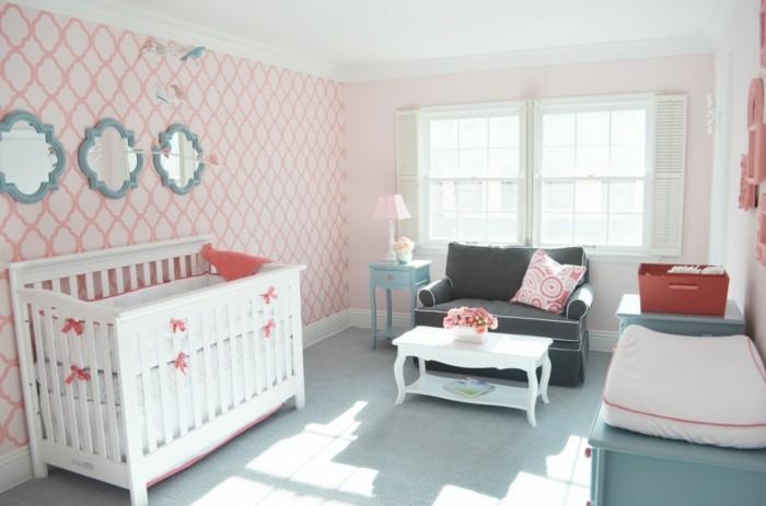Salle-de-séjour-corail-rouge-decoration-interieur-chambre-bebe