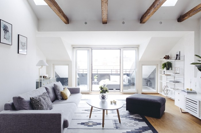 Un canap vintage pour votre salon moderne - Salon avec canape d angle ...