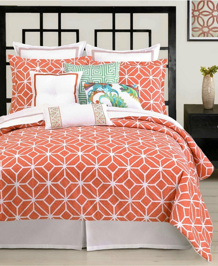 aménagement-couleur-corail-peinture-photo-de-salon-chambre-à-coucher