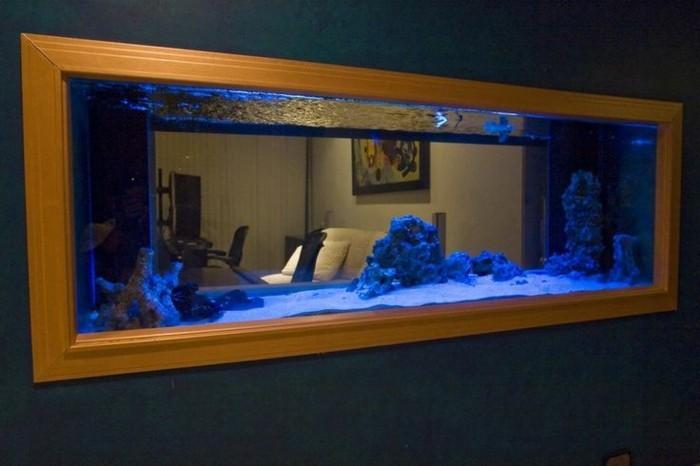 L aquarium mural en 41 images inspirantes - Decoration pour le salon ...
