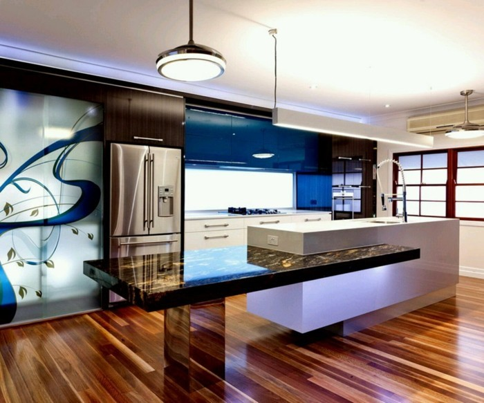 barre-de-crédence-cuisine-cuisine-leroy-merlin-cool-idée-bleu