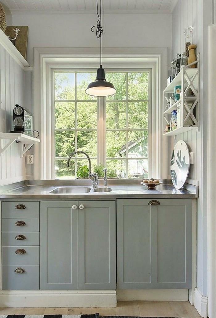 Am nager une petite cuisine 40 id es pour le design for Amnager une petite cuisine