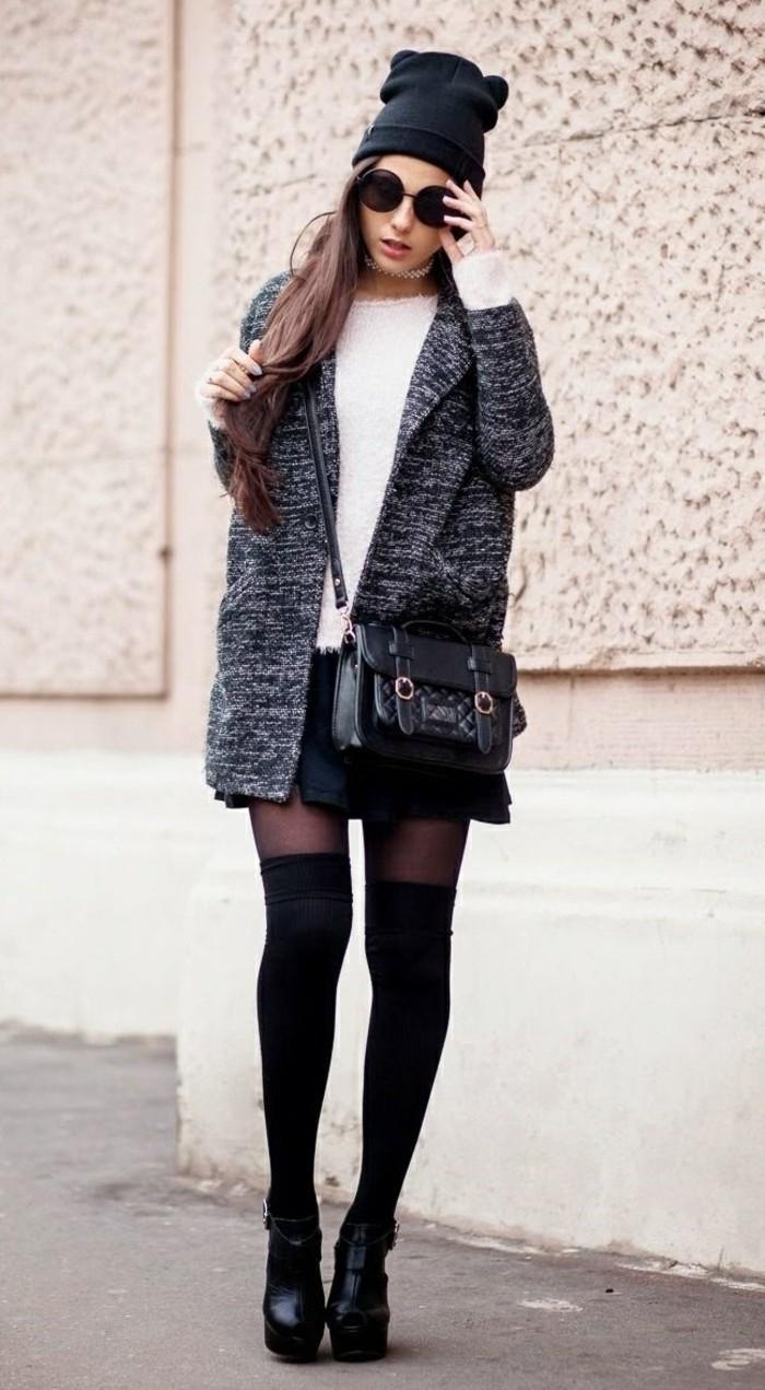 bottine-femme-pas-cher-bottines-noires-femme-tenue