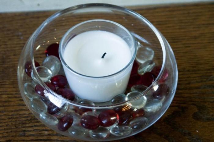 bougie-galets-décoratifs-idées-domestiques-pour-la-maison