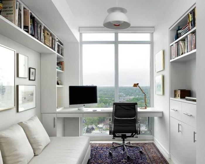 bureau-avec-vue-et-lampe-de-chevet-fly-ikea-lampe-de-chevet-blanc-office-avec-meubles-blancs