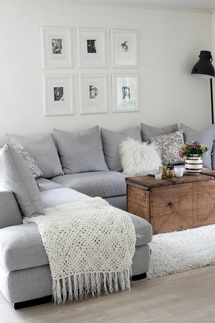 41 images de canap d angle gris qui vous inspire - Tapis moderne pour salon ...