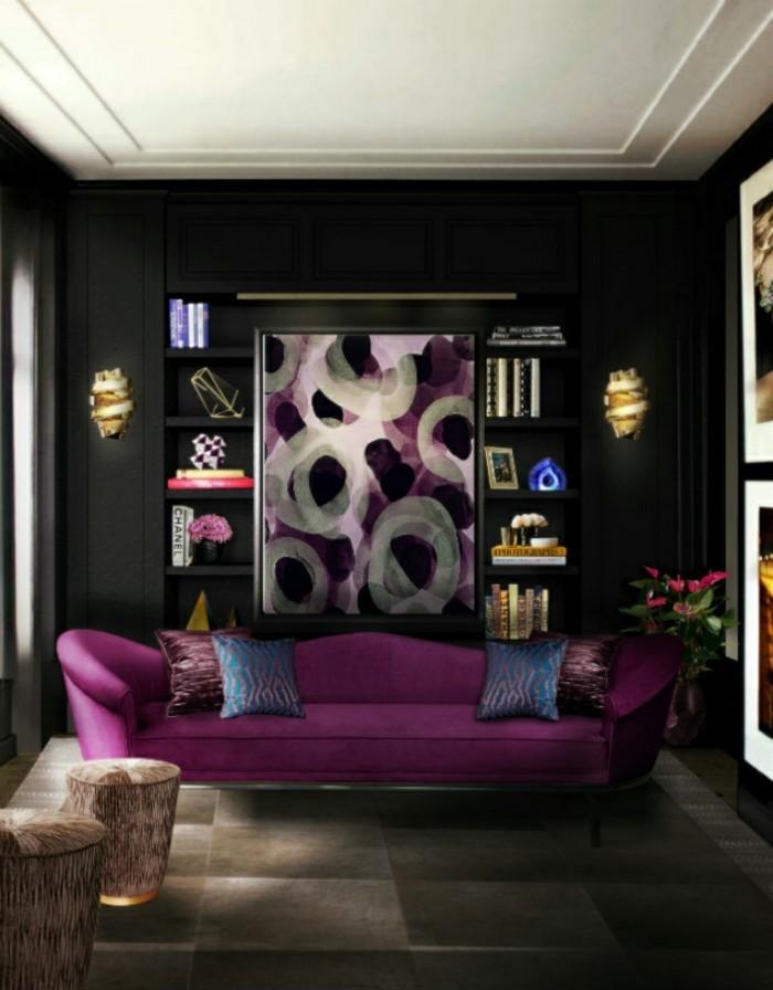 canapé-la-redoute-fly-canapé-canape-vintage-cool-idée-en-violet-et-noir