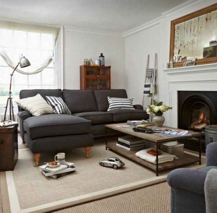 Un canap vintage pour votre salon moderne - Comment decorer grand salon rendre confortable ...