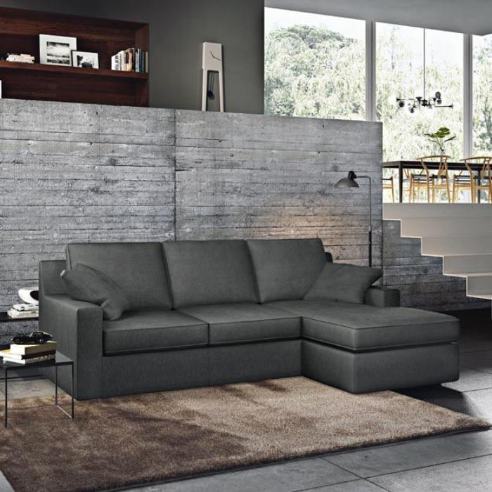 canapé-poltronesofa-canapé-gris-tapis-marron