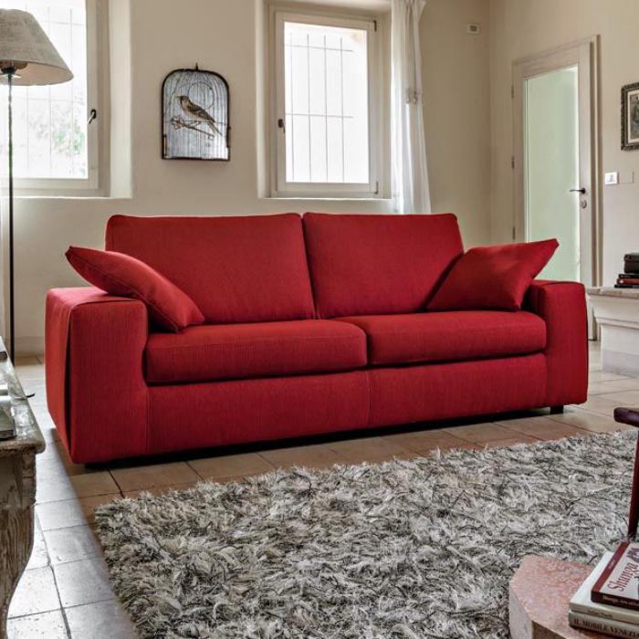 canapé-poltronesofa-grand-canapé-rouge-deux-places