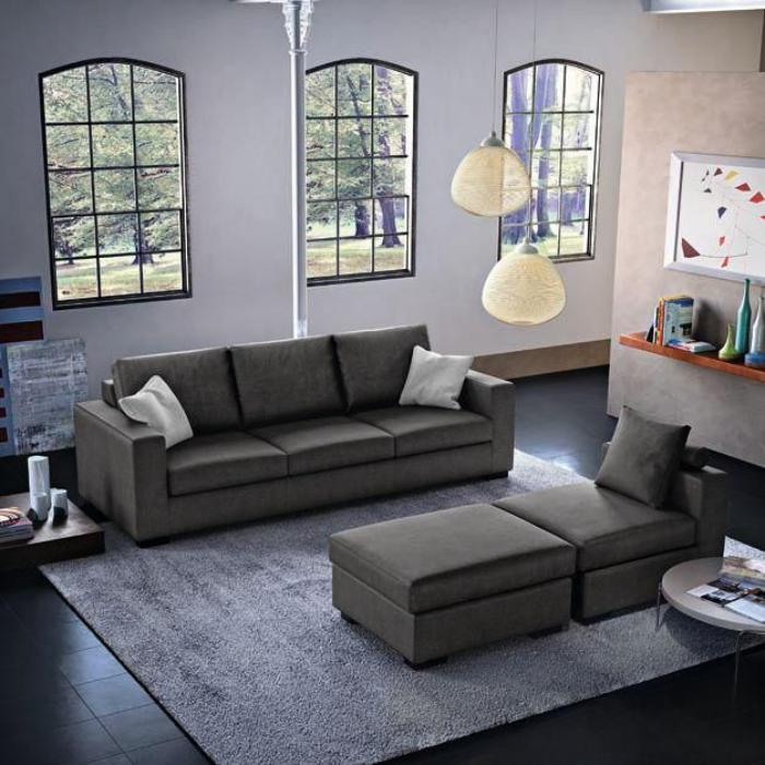 canapé-poltronesofa-gris-décor-original