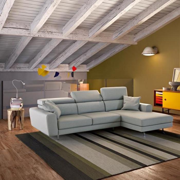 Le canap poltronesofa meuble moderne et confortable - Plafond avec poutres apparentes ...