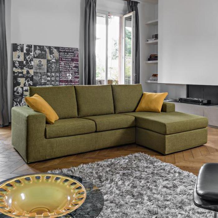canapé-poltronesofa-vert-trois-places