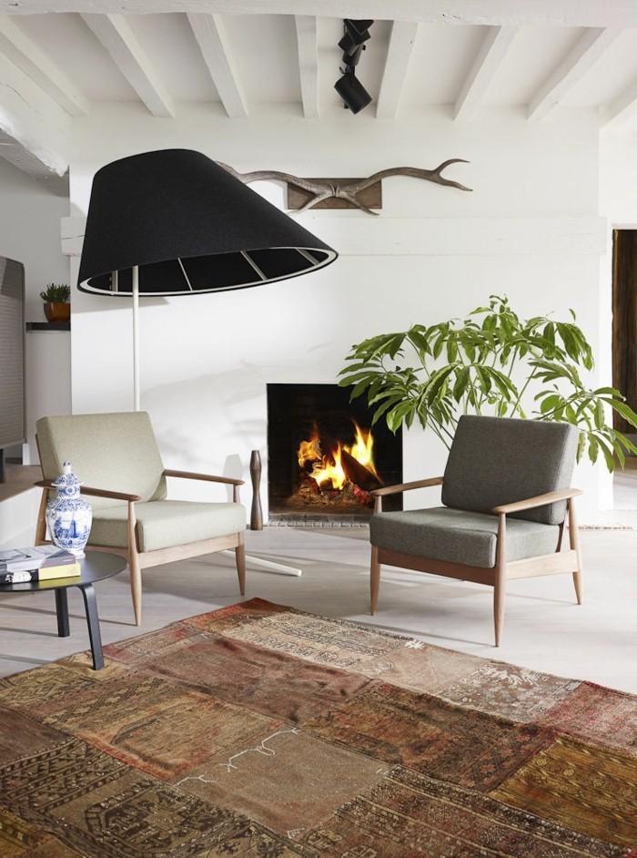 canapé-scandinave-canapé-vintage-fauteuil-club-convertible-cheminée