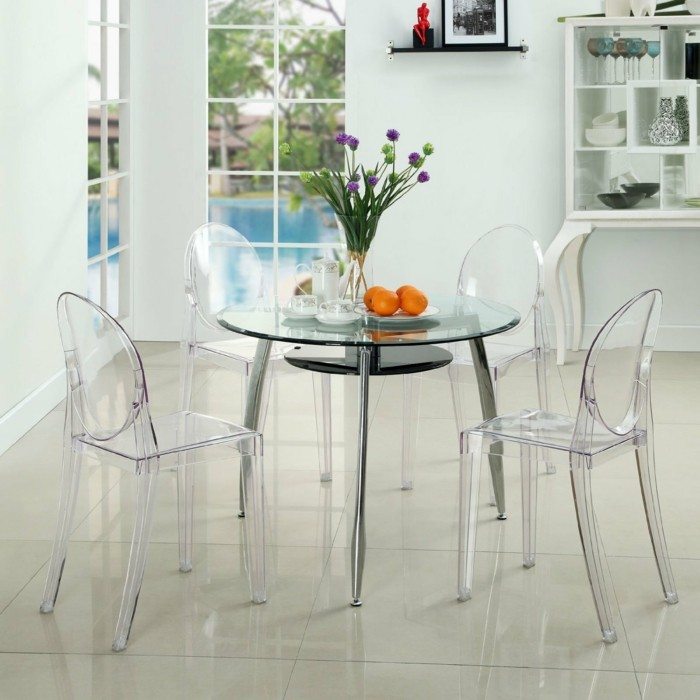 Pourquoi choisir la chaise design transparente - Table a manger transparente ...