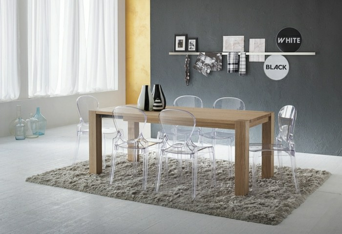 Pourquoi choisir la chaise design transparente for Table a manger transparente