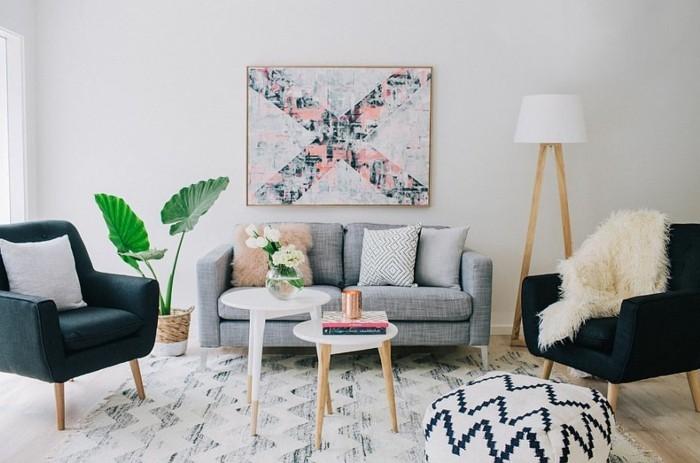 Le fauteuil scandinave confort utilit et style la une - Salon scandinave vintage ...