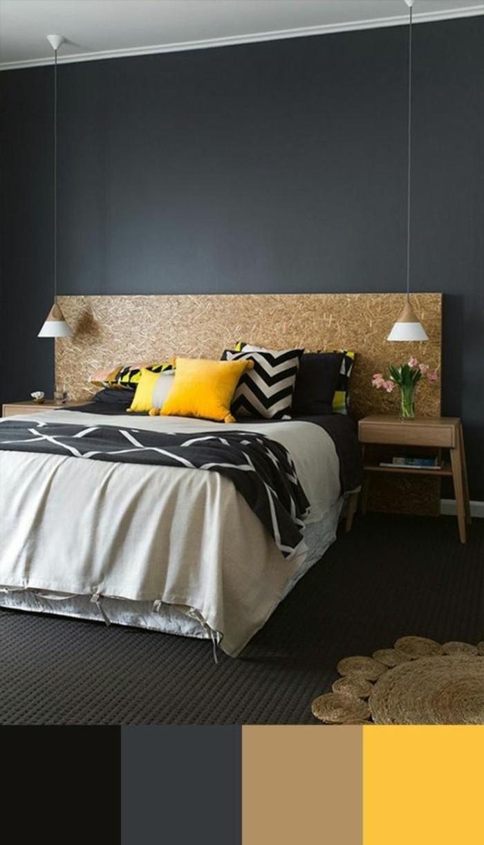 chambre-a-coucher-beige-jaune-gris-anthracite-couleur-grège-pour-la-chambre-a-coucher