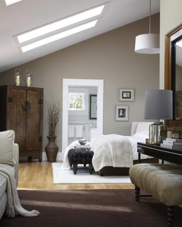 Comment incorporer la couleur gr ge id es en photos - Chambre avec plafond en pente ...