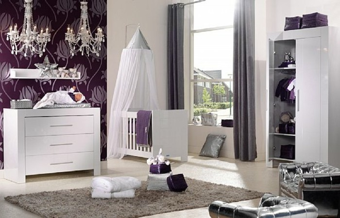 La chambre b b mixte en 43 photos d 39 int rieur - Idee deco chambre bebe fille photo ...