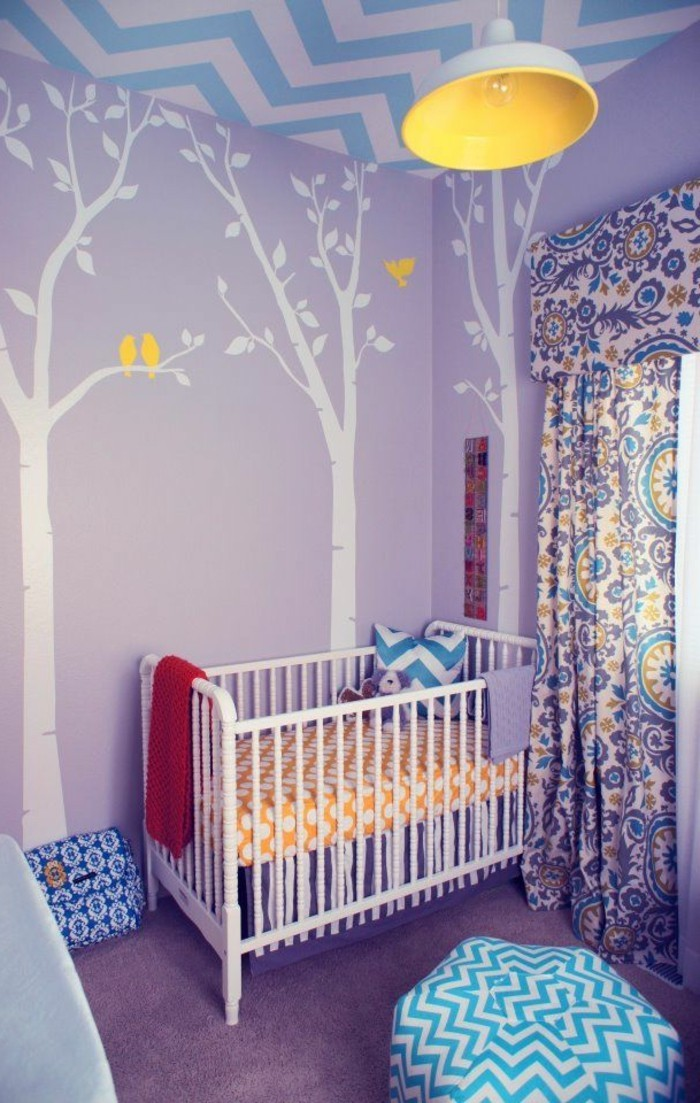 La chambre b b mixte en 43 photos d 39 int rieur for Idees deco chambre bebe fille