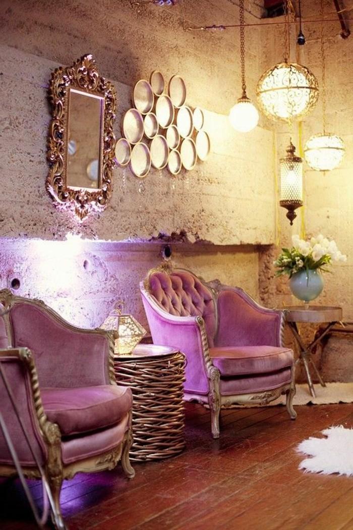 chambre-style-baroque-meuble-baroque-pas-cher-fauteuil-baroque-pas-cher-rose