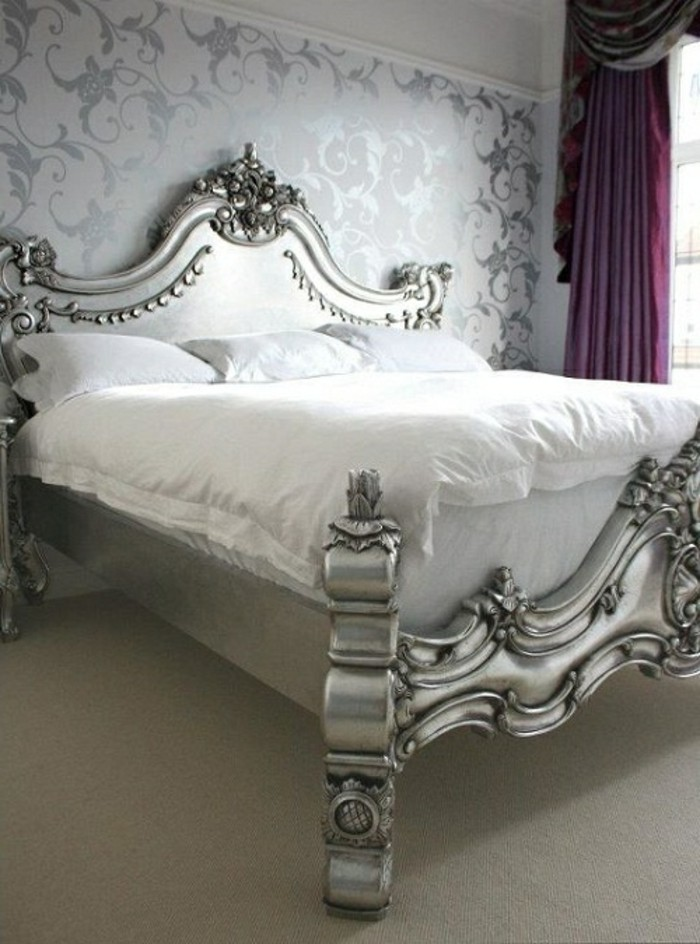 La chambre style baroque nos propositions en photos for Meuble tv baroque pas cher