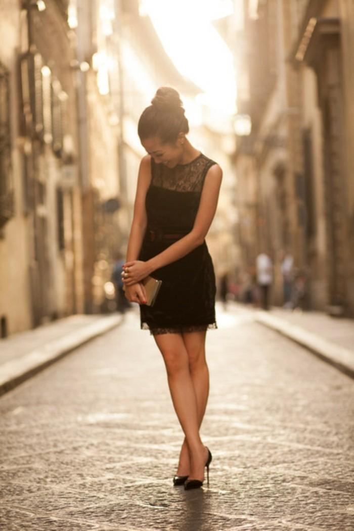chic-robe-droite-noire-chic-la-robe-noire-classique-chic-robe-d-été-courte