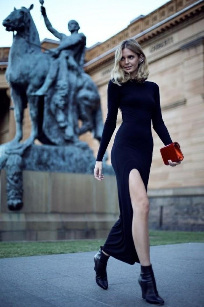 chic-robe-droite-noire-chic-la-robe-noire-classique-chic-rue-fashion
