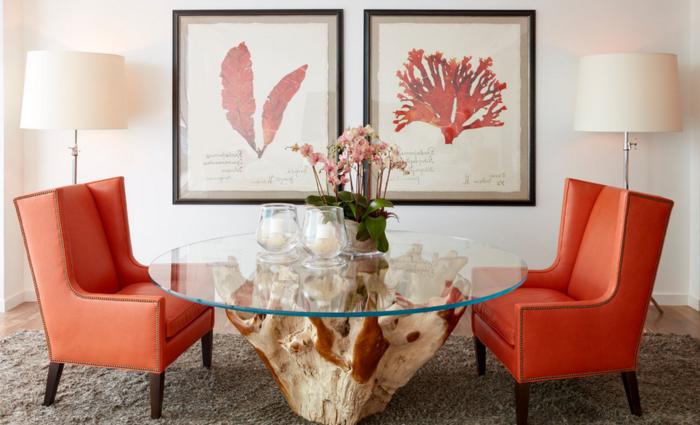 40 id es pour la d coration magnifique en couleur corail for Decorer son salon salle a manger