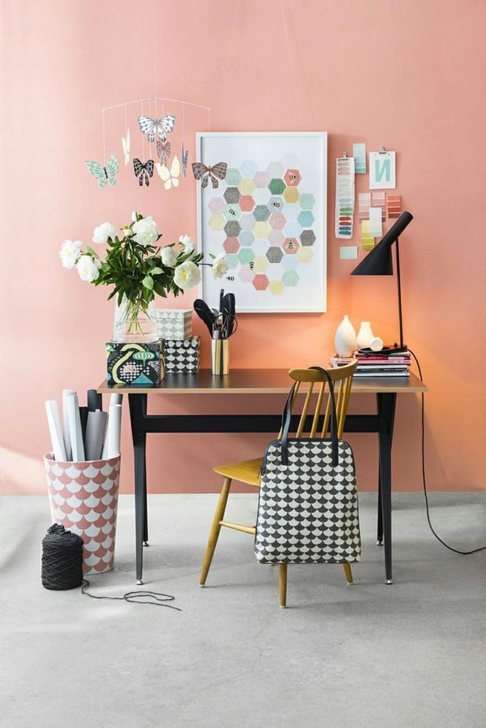 40 id es pour la d coration magnifique en couleur corail. Black Bedroom Furniture Sets. Home Design Ideas
