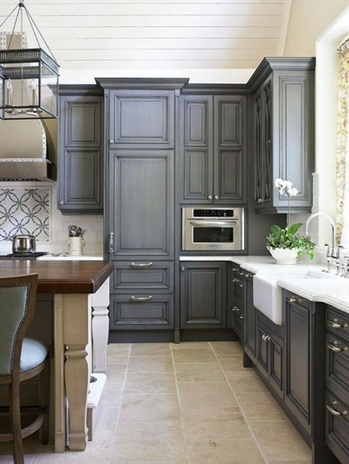 comment-aménager-une-petite-cuisine-gain-de-place-gris-espace-cuisine-cuisine-ouverte-bar-ikea-petit-espace-deco-petite-cuisine
