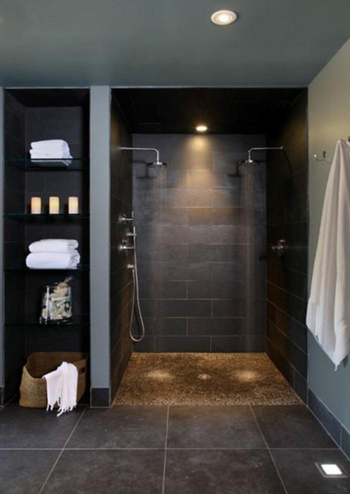 La beaut de la salle de bain noire en 44 images - Salle de bain style ...