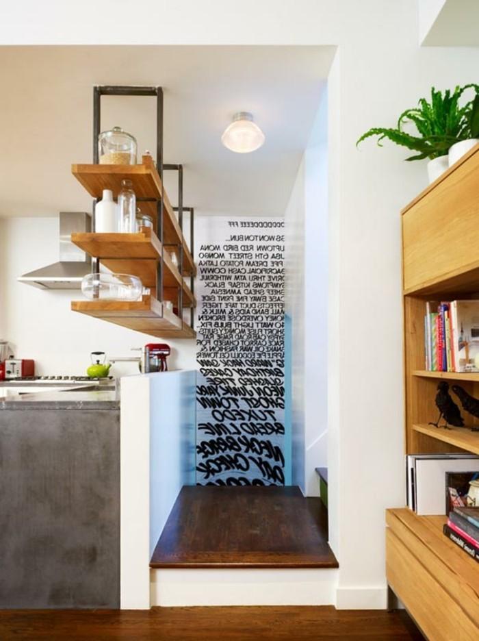 am nager une petite cuisine 40 id es pour le design. Black Bedroom Furniture Sets. Home Design Ideas