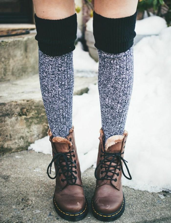 cool-bottines-cuir-femme-bottines-marron-femme-chaussettes-hautes