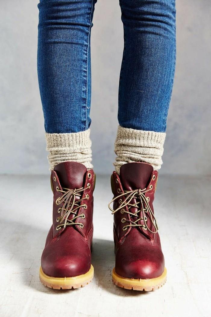 cuir-rouge-bottines-cuir-femme-bottines-marron-femme