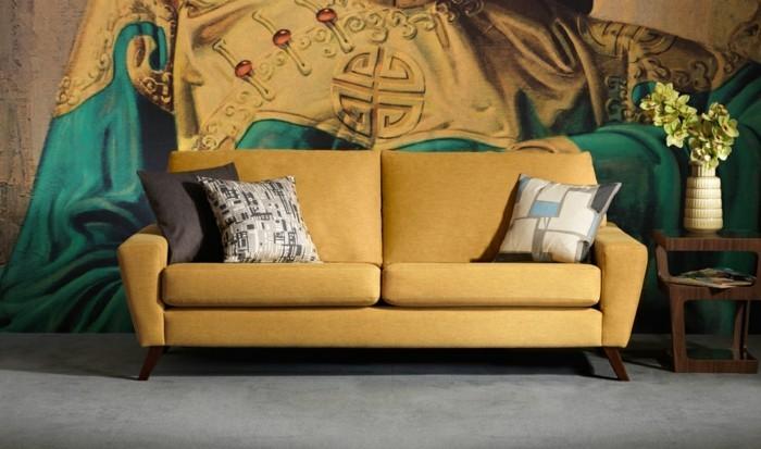 déco-canape-gris-canapé-alinea-canapé-club-vintage-stylé-en-jaune
