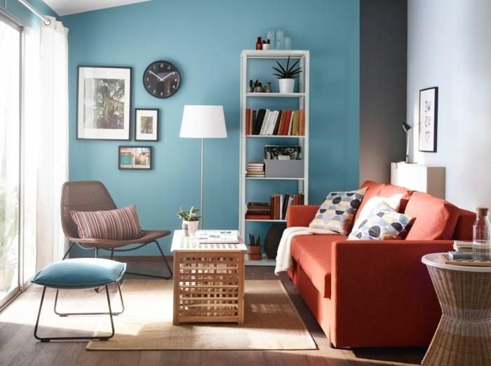 decoration-intérieur-fauteuil-suedois-fauteils-vintage-scandinave-en-bleu