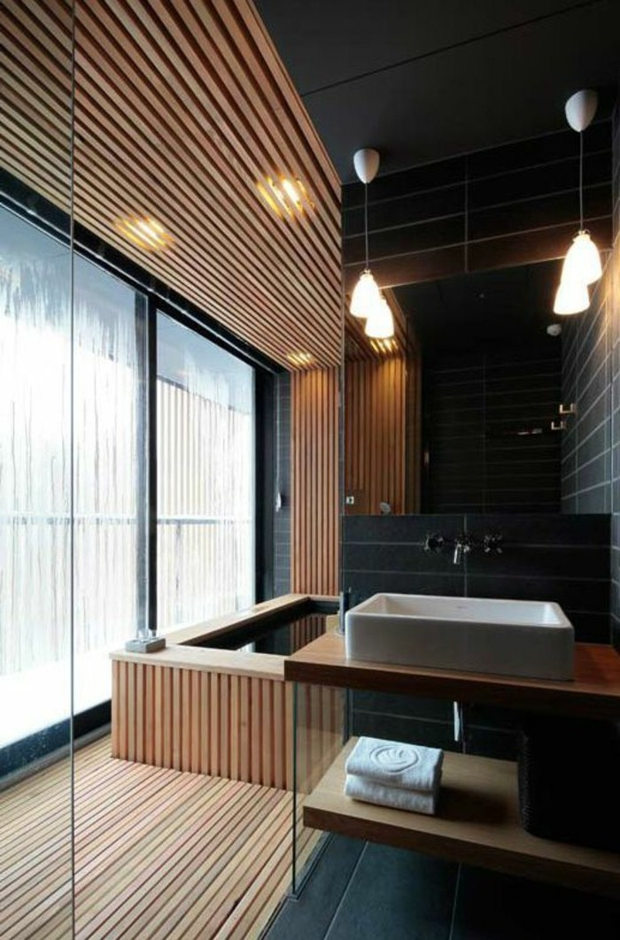 Mille id es d am nagement salle de bain en photos for Salle de bain japon