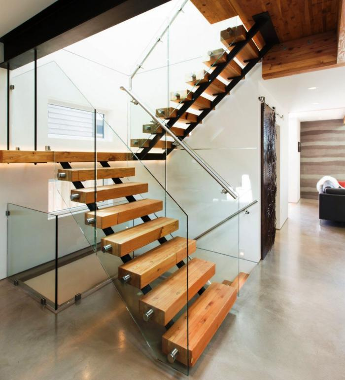 Designs d 39 escalier suspendu le look du loft moderne for Escalier interieur design