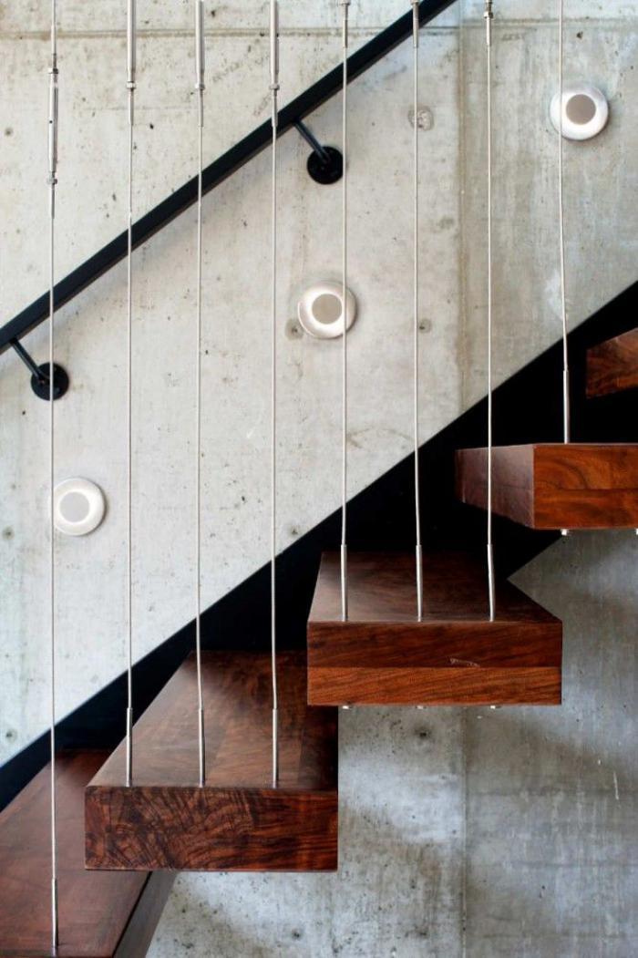 escalier-suspendu-design-bois-et-fer-escalier-flottant-magnifique