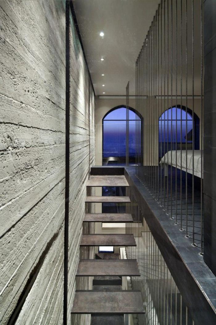 escalier-suspendu-design-stupéfiant-minimaliste-d'escalier-flottant